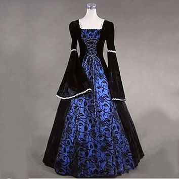 Vintage Victorian Costume Women's Dress Party Masquerade