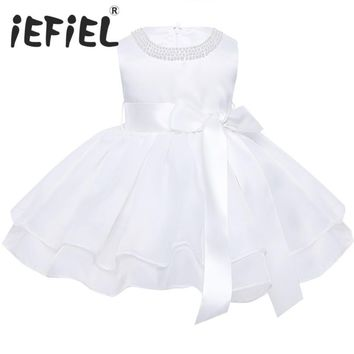 Flower Baby Girls Wedding Dress for kids 1 year Birthday dresses Baptism newborn Girls clothing infant tutu dress Child Clothes