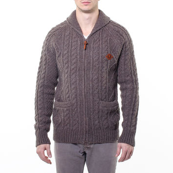 Fred Perry: Aran Cable Cardigan, at 68% off!