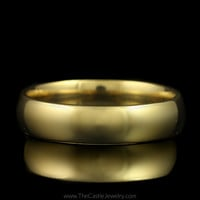Polished Light Comfort Fit Wedding Band 5mm Wide Size 9 in 14K Yellow Gold