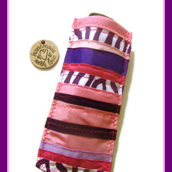 Eyeglass Case Pink/ Purple Ribbons / Ribbon Eyeglass Case