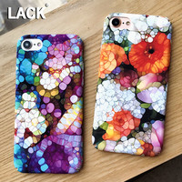 LACK Colorful Stone Flower Case For iphone 7 Case For iphone7 6 6S PLus Phone Cases Cute Cartoon Diamond Pattern Cover Hard Capa