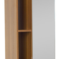 Fresca Teak Bathroom Linen Side Cabinet With 4 Cubby Holes and Mirror - Contemporary - Bathroom Cabinets And Shelves - by Customers Kitchen and Bath