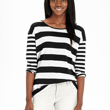 Old Navy Womens Mixed Stripe Tops