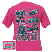 Girlie Girl Originals Flip Flop Wearin Water Lovin Kind Girl Bright Pink T Shirt
