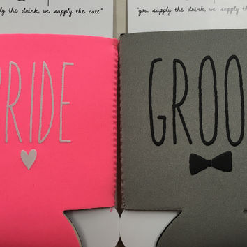 Bride and Groom Koozie