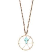 With Love From CA Dream Feather Turquoise Cross Necklace at PacSun.com