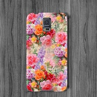 Floral Samsung s6 case galaxy s4 mini case s5 mini case rose note 4 case flower note 3 case s4 case rose s5 case galaxy s3 case