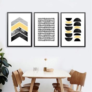 Modern Abstract Art Canvas Posters Prints,Geometric shapes on canvas wall picture for living room Home Decor no frame DP0439