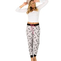 Heather Gray Panda Pj's