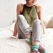 Colorblock Stripe Crew Sock - Urban Outfitters