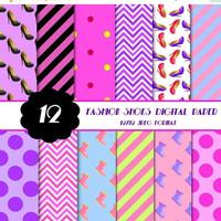50% OFF SALE High Heel Shoes Digital Paper, Fashion Theme Digital Papers, Scrapbook Paper, Party Supplies, Printable Paper Pack, Commercial