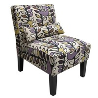 Skyline Furniture Armless Chair in Oslo Amethyst