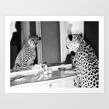 cheetah 2 Art Print by alanazelda
