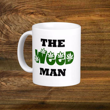 The Weed Man Marijuana Coffee Mug, Original Design White Coffee Cup, Funny Coffee Cups 11oz 15oz Mug Fun Gift
