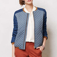 Anthropologie - Quilted Chambray Jacket