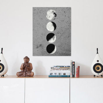 Monochrome Moon Phase Print