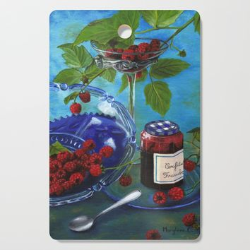 Still-life with raspberries Cutting Board by savousepate