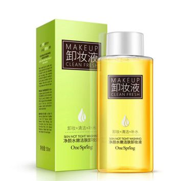 NEW Olive Oil Makeup Remover Refreshing Mild Cleansing Water for Eyes Lip Face Deep Clean Tender Remove Stimulation-Free 150ML