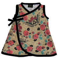 "Kid's ""Leopard Skull"" Dress by Conscious Children's Clothes"