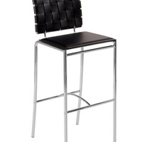 Carina-B Bar Chair Brown/Chrome (set of 2)