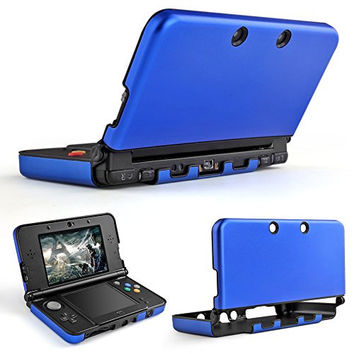 TNP 3DS XL LL Case (Blue) - Full Body Protective Snap-on Hard Shell Aluminium Plastic Skin Cover for Nintendo 3DS XL LL 2012 Original Model