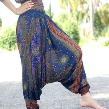 harem pants Thai fisherman pants palazzo pants boho pants/elephant pants/yoga pants/pyjamas/hippie clothes/bohemian pants/baggy pants