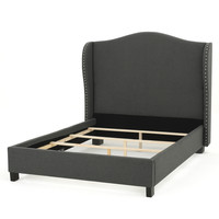 Agneta Upholstered Wingback Bed