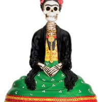 Frida Kahlo as Skeleton Day of the Dead Statue 4H