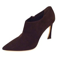Dior Christian Songe Women's Dark Brown Suede Size 40 Ankle Booties
