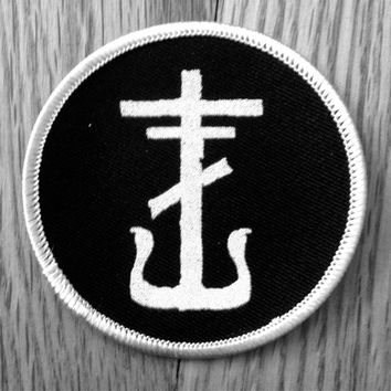 "frnkiero. 3"" Round Iron-On Patch. from B.CALM PRESS"