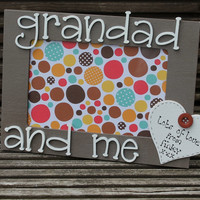 Grandad and Me wooden Personalised Photo frame