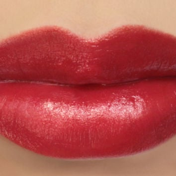 "Vegan Lipstick - ""Cherry"" (bright red lipstick) natural lip tint, balm, lip colour mineral lipstick"