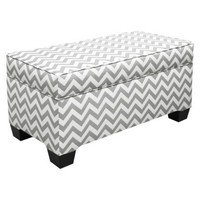 Storage Bench Upholstered in Fashion Fabrics - Grey : Target