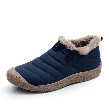 Casual Breathable Slip On Plush Winter Shoes