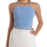 Omphalodes Strappy Tie-Back Crop Top by Charlotte Russe