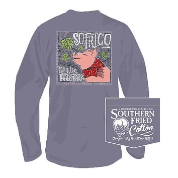Leaves Falling Autumn Calling Long Sleeve Tee in Plum by Southern Fried Cotton