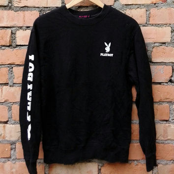 SALE!!! Playboy Sweatshirt Embroidery Logo Playboy Rare