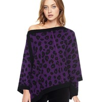 Printed Leopard Poncho by Juicy Couture