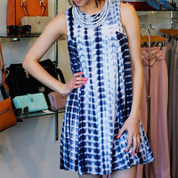 Tie Dye Dress - Navy