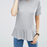 ASOS TALL T-shirt with Ruffle Hem