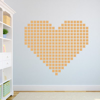 """Square Heart Wall Decal 28"""" x 28"""""""