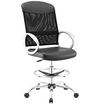 Emblem Mesh and Vinyl Drafting Chair