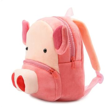 High Quality Cartoon Kids School Bag Cute Animal Pink Pig Backpack For Kindergarten Baby Mini Schoolbag Boys Girls Student Gift