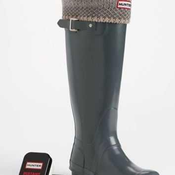 Hunter 'Original Tall' Gloss Rain Boot, Welly Socks & Instant Boot Shine Sponge | Nordstrom