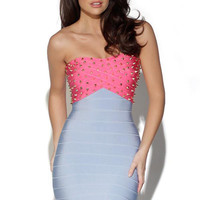 Strapless Rivet Top Bandage Dress