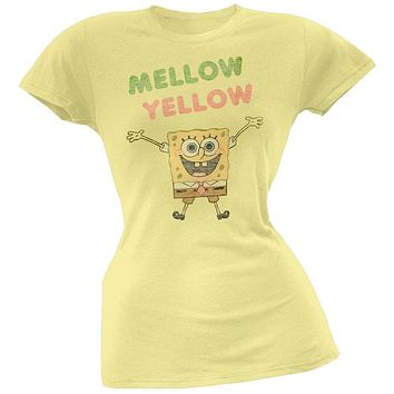 Spongebob Squarepants - Mellow Yellow Juniors T-Shirt