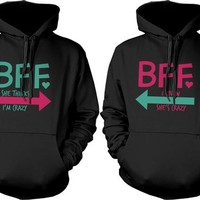 BFF Accessories BFF Pullover Sweaters - Crazy BFF Hoodies for Best Friends