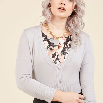 Dream of the Crop Cardigan in Moon | Mod Retro Vintage Sweaters | ModCloth.com