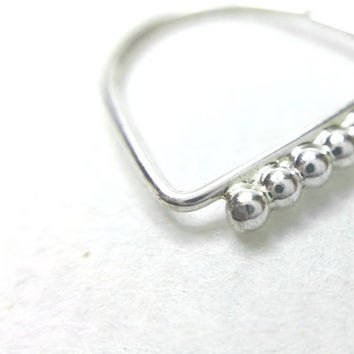 SALE - Septum jewelry, Septum, Silver nose hoop, Nose ring, Body jewelry, Nose ring, Silver septum ring, Body piercing, Tribal piercing